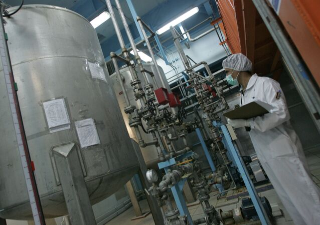 Pracownik techniczny na obiekcie jądrowym w Iranie