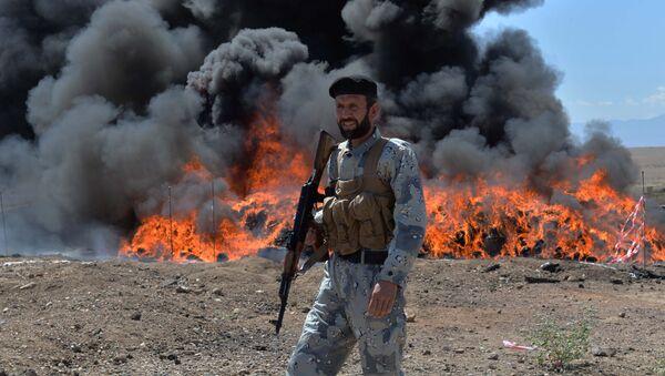 Utylizacja narkotyków w Afganistanie - Sputnik Polska