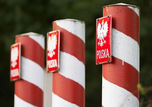 Polskie słupy graniczne.