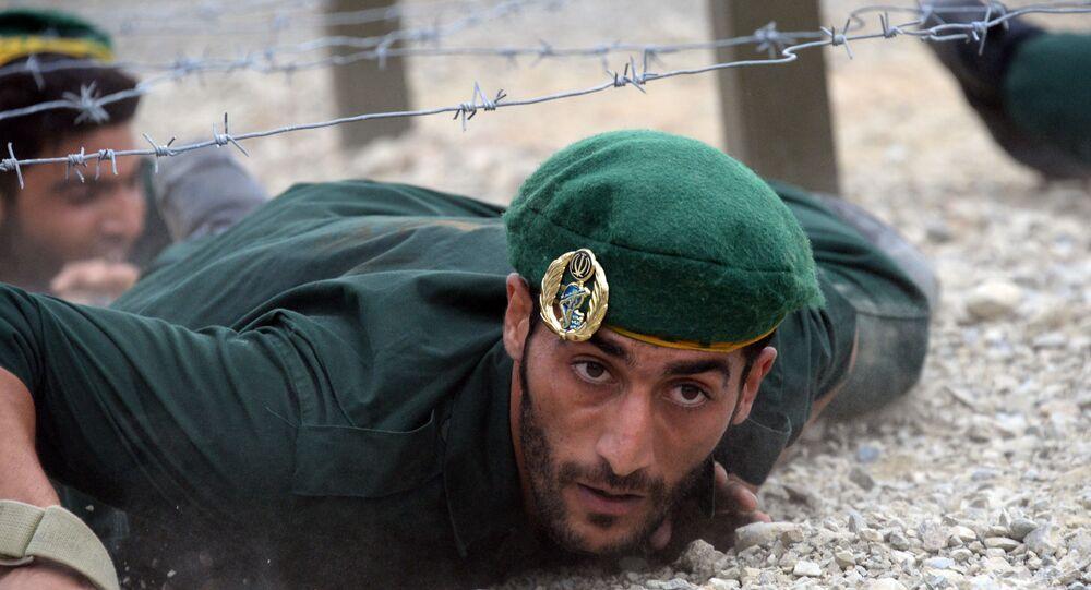 Irański żołnierz na międzynarodowych grach Armi 2017 w Rosji