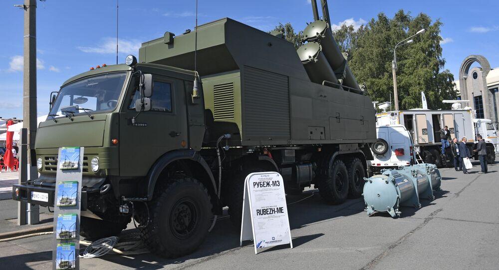 """Mobilny rakietowy system obrony wybrzeża """"Rubież-ME"""""""