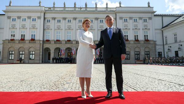 Spotkanie prezydent Słowacji Zuzany Czaputovej z prezydentem Polski Andrzejem Dudą - Sputnik Polska