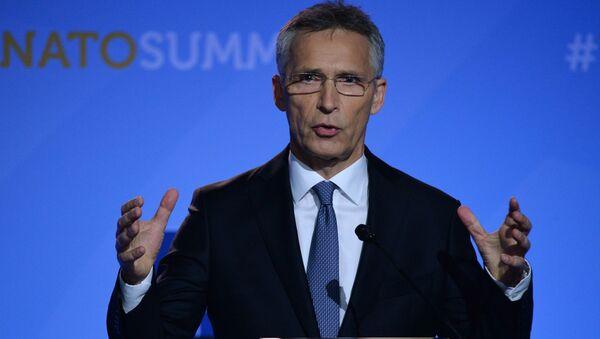 Генеральный секретарь НАТО Йенс Столтенберг во время пресс-конференции в Брюсселе - Sputnik Polska
