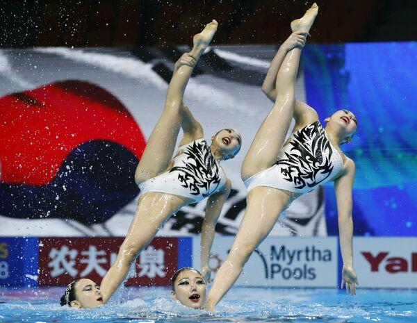Reprezentacja Korei Południowej na pływackich mistrzostwach świata w południowokoreańskim Gwangju - Sputnik Polska
