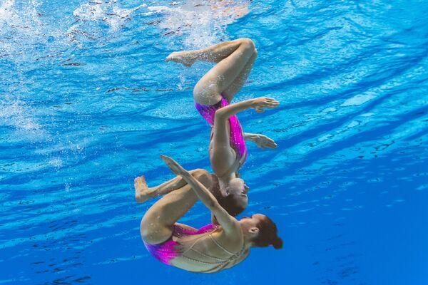 Reprezentacja Szwajcarii na pływackich mistrzostwach świata w południowokoreańskim Gwangju - Sputnik Polska