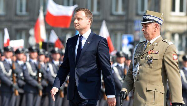 Prezydent Polski Andrzej Duda na Placu Piłsudskiego w Warszawie - Sputnik Polska