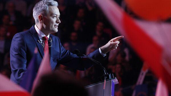 Lider partii Wiosna Robert Biedroń - Sputnik Polska