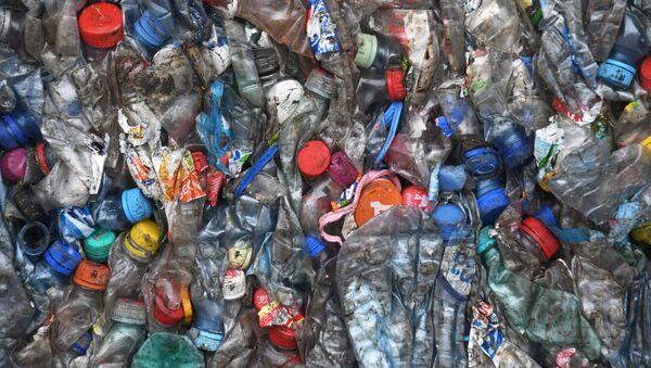 Plastikowe butelki. Zdjęcie archiwalne - Sputnik Polska