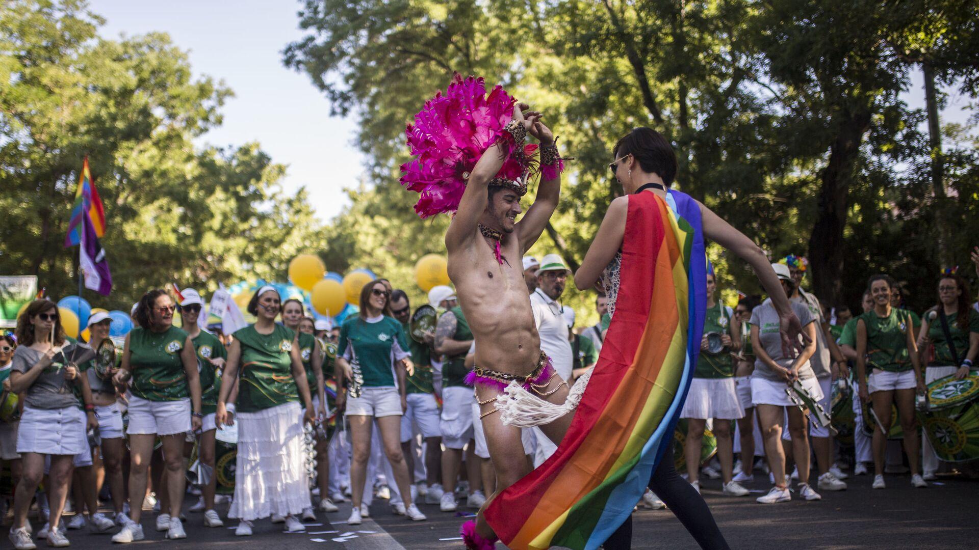 Parada LGBT w Madrycie - Sputnik Polska, 1920, 14.09.2021