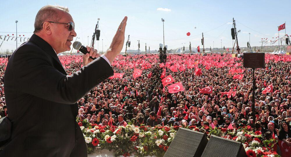 Miting poparcia dla prezydenta Turcji Recepa Tayyipa Erdogana