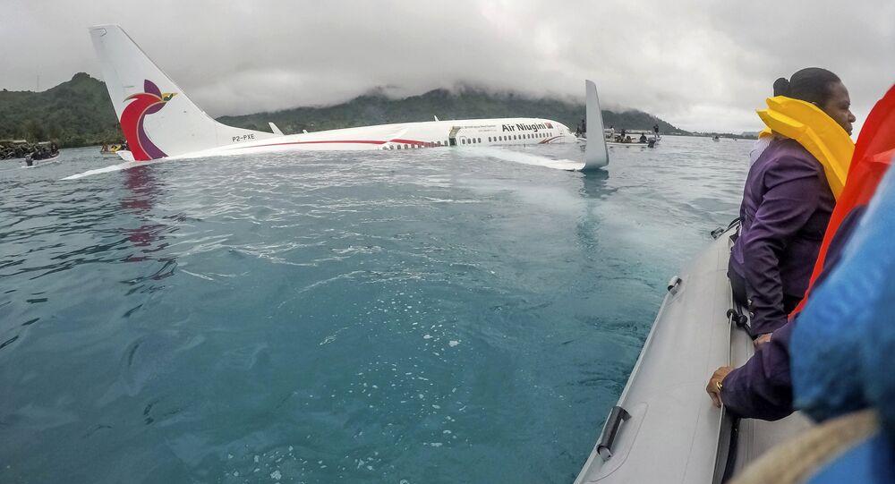 Awaryjne lądowanie na wodzie Air Niugini
