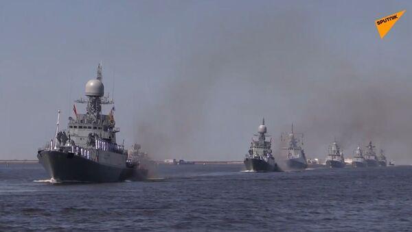 Próba parady z okazji dnia rosyjskiej marynarki wojennej - Sputnik Polska