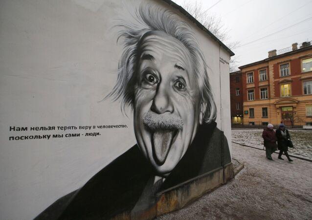 Graffiti z wizerunkiem Alberta Einsteina