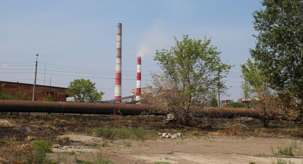 """Zakład przemysłowy """"Usolechimprom"""" w obwodzie irkuckim"""