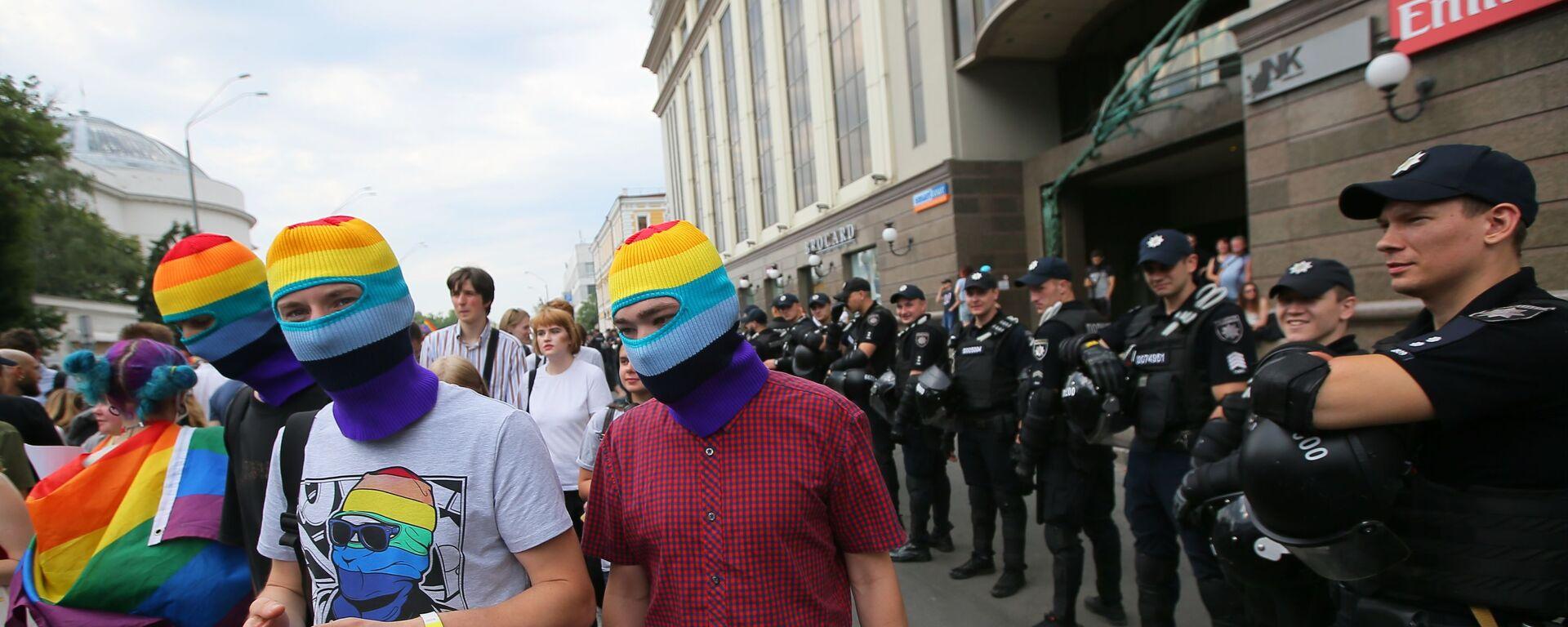 Parada LGBT w Kijowie - Sputnik Polska, 1920, 30.07.2021