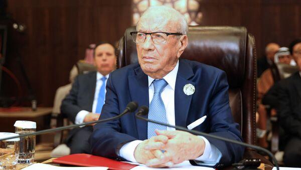 Prezydent Tunezji Bedżi Kaid Essebsi - Sputnik Polska