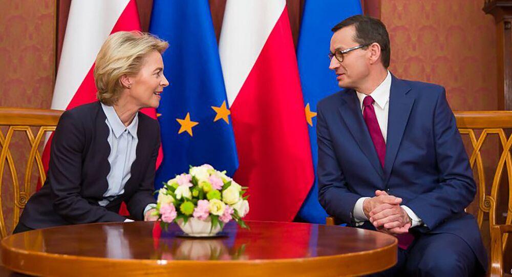 Ursula von der Leyen i Mateusz Morawiecki