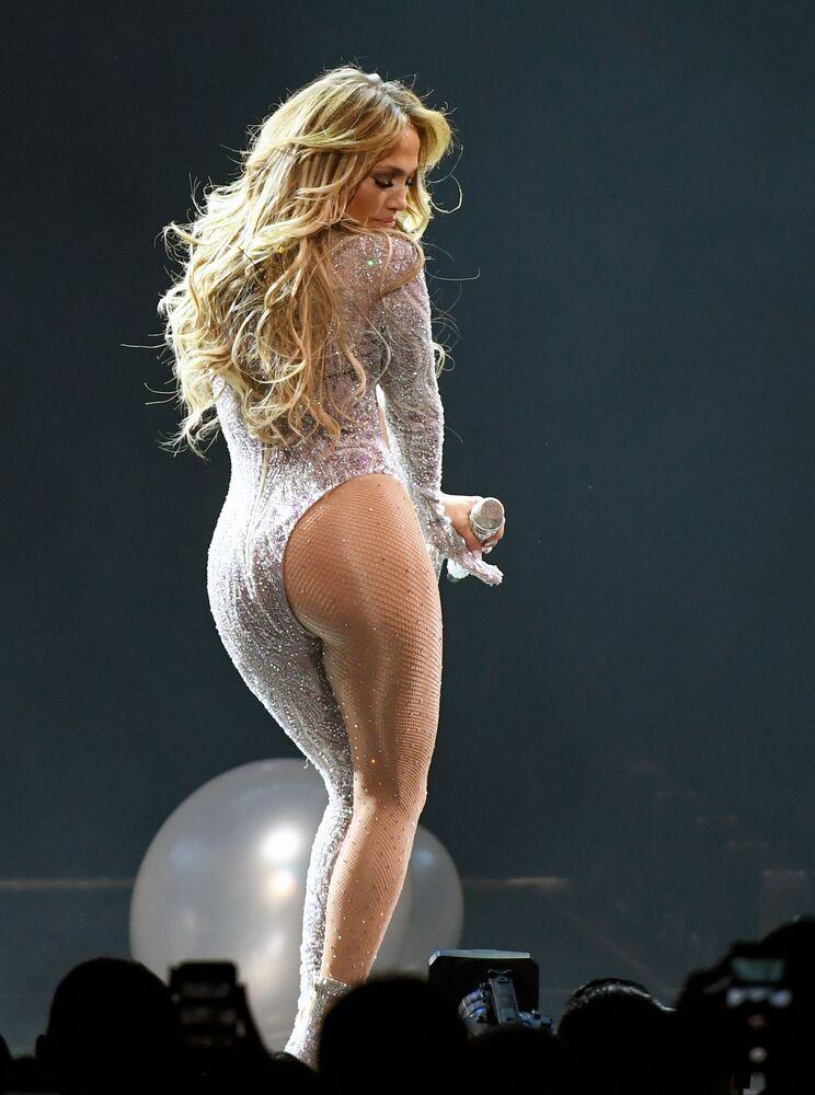 Jennifer Lopez podczas trasy koncerowej w Las Vegas, 2019 rok