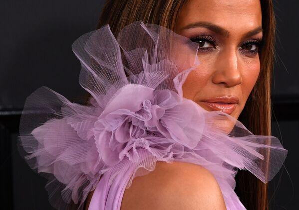 Jennifer Lopez podczas 59. ceremonii wręczenia nagród Grammy, 2017 rok - Sputnik Polska