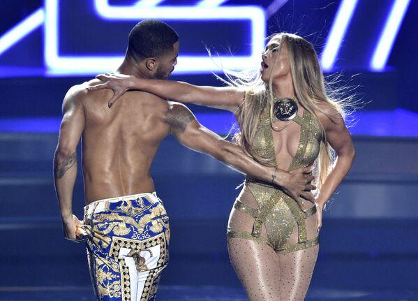 Jennifer Lopez podczas ceremonii wręczenia nagród MTV Video Music Awards, 2018 rok - Sputnik Polska