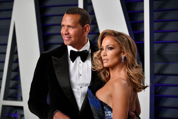 Alex Rodriguez i Jennifer Lopez podczas Oskarów, 2019 rok - Sputnik Polska