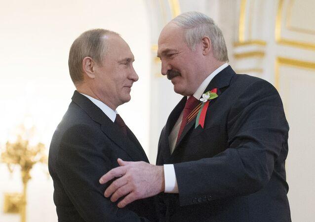 Władimir Putin i Aleksandr Łukaszenka