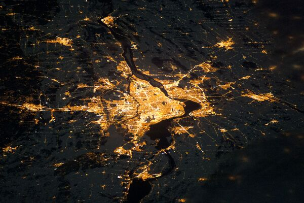 Nocny widok na Montreal z kosmosu - Sputnik Polska