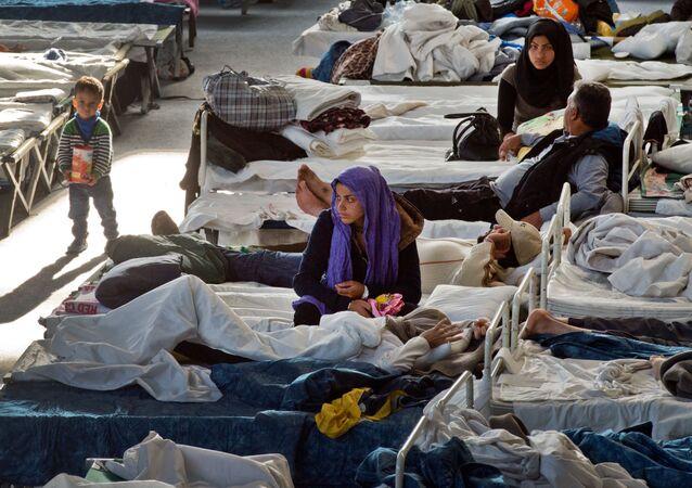 Obóz dla uchodźców w niemieckim mieście Hanau