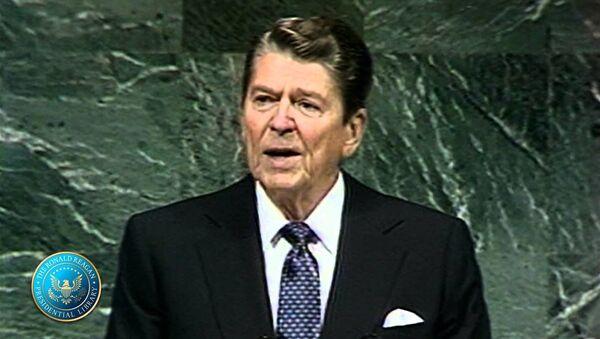 Ronald Reagan na 42. Zgromadzeniu Ogólnym ONZ - Sputnik Polska