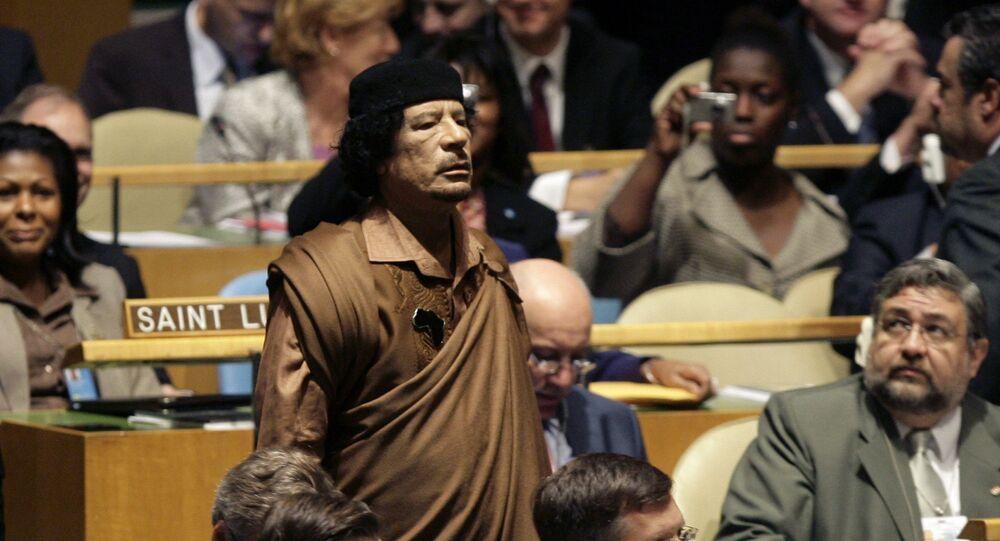 Mu'ammar al-Kaddafi na 64. Zgromadzeniu Ogólnym ONZ