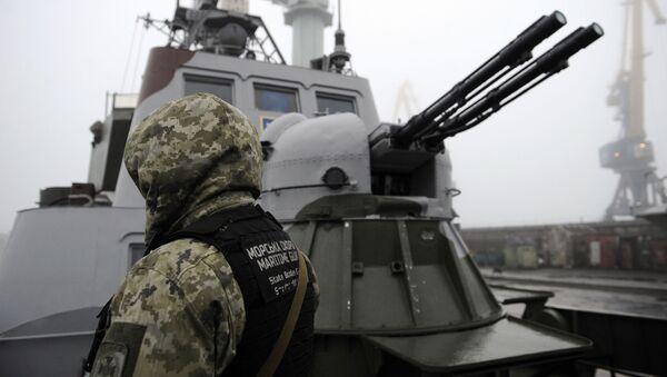 Ukraiński żołnierz w Mariupolu - Sputnik Polska