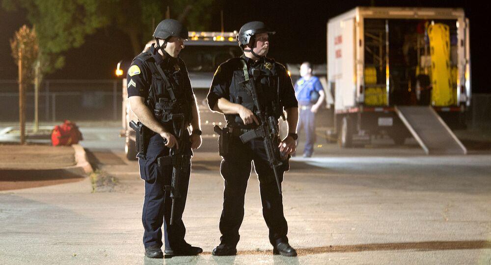 Policja na Gilroy Garlic Festival w Kalifornii