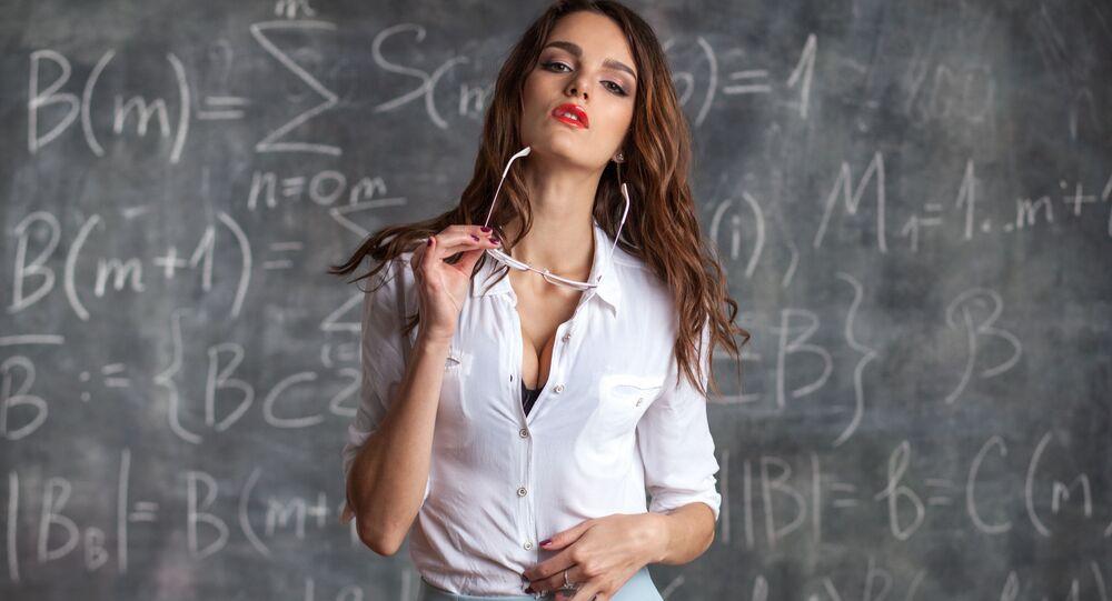Młoda nauczycielka