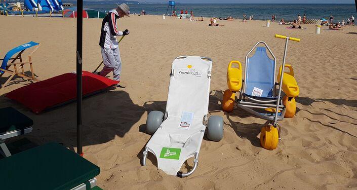 Plaża w Gdańsku-Brzeźnie wkrótce ma być w pełni dostosowana do potrzeb niepełnosprawnych