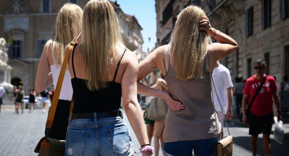 Turystki w Rzymie