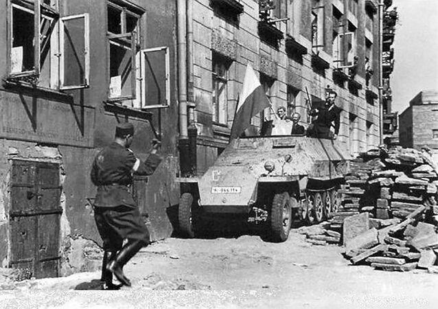 Ulica Warszawy w czasie Powstania Warszawskiego