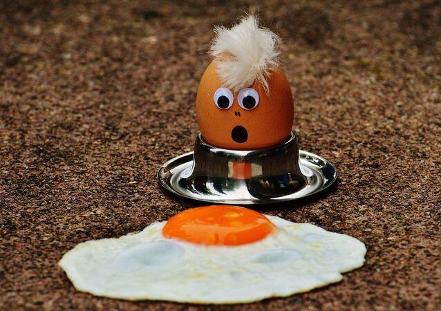 Zdziwione jajko