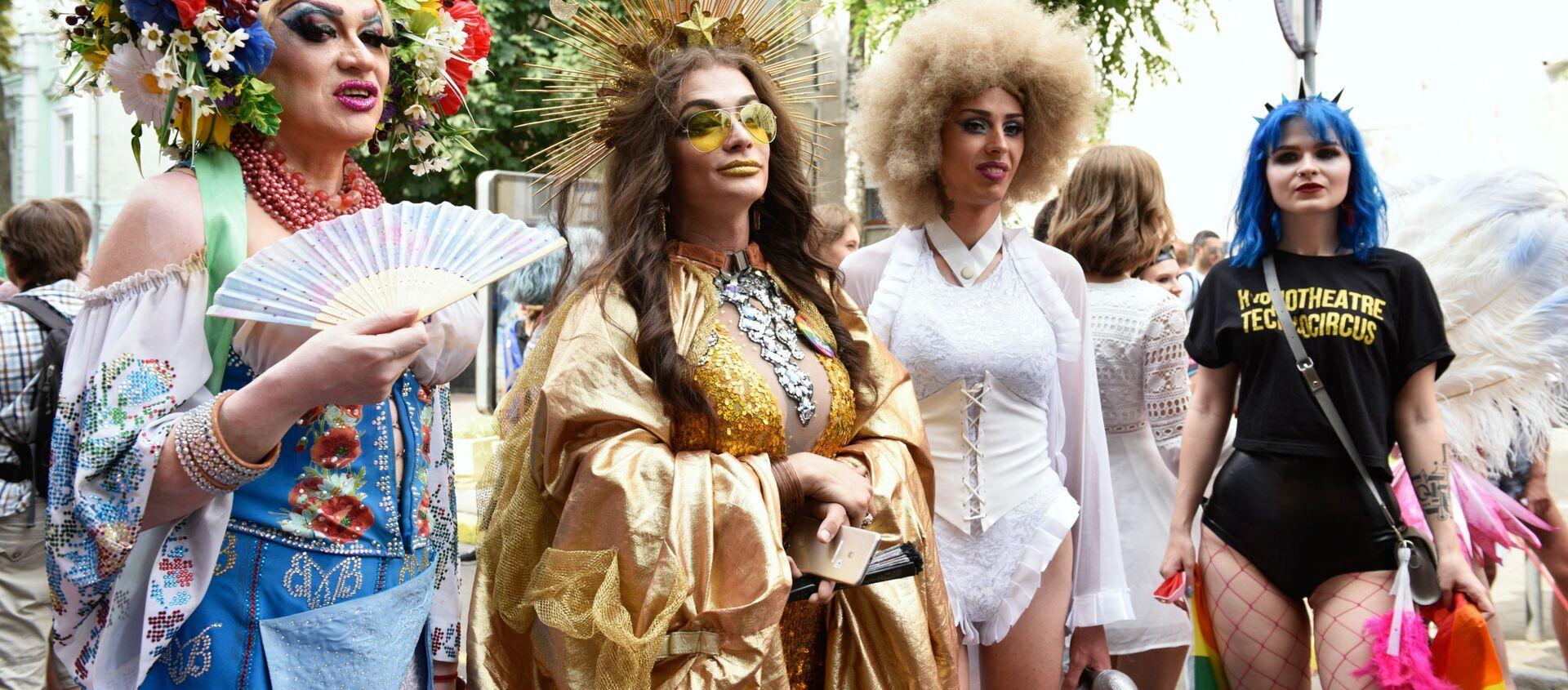 Parada LGBT w Kijowie - Sputnik Polska, 1920, 02.08.2019