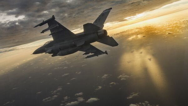 Amerykański myśliwiec F-16 Fighting Falcon - Sputnik Polska
