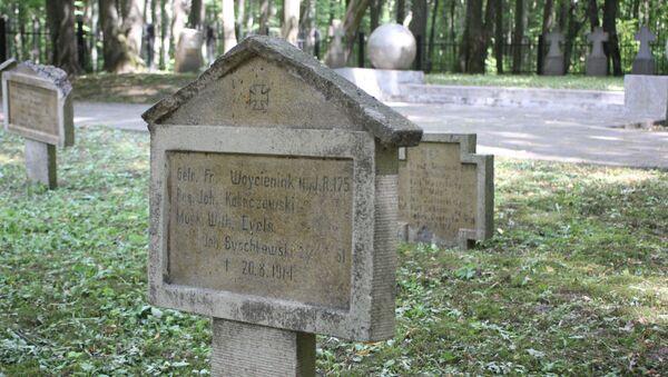 Polskie groby na cmentarzu niemieckich żołnierzy poległych w I wś  - Sputnik Polska