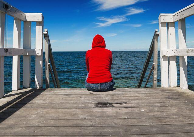 Samotna dziewczyna