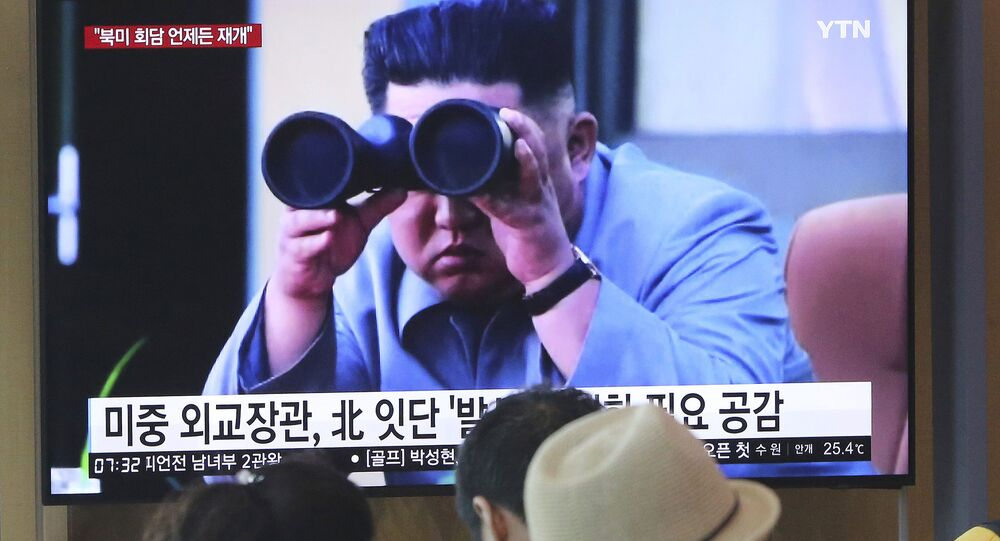 Lider KRLD Kim Dzong Un w wiadomościach telewizyjnych w Korei Południowej