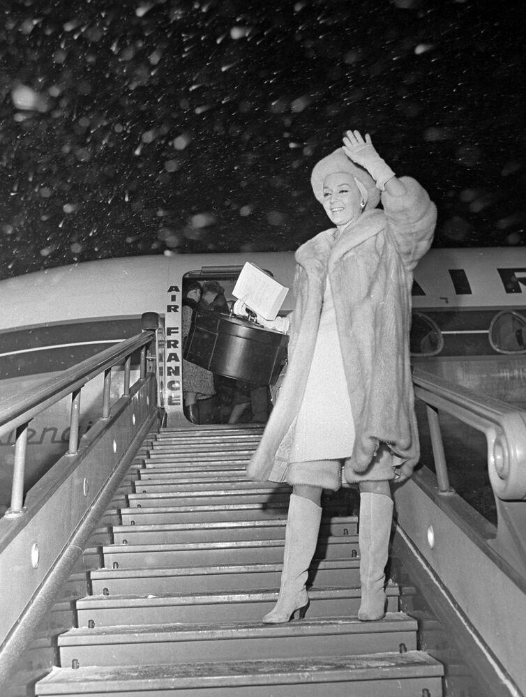 Francuska aktorka Ludmila Tcherina w Szeremietiewie, 1965 rok