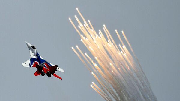"""Samolot MiG-29 na ogólnorosyjskim etapie zawodów """"Aviadarts 2019"""" na poligonie lotniczym pod Riazaniem - Sputnik Polska"""