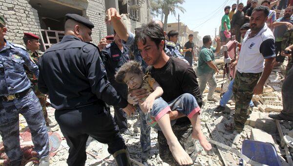 Po wybuchu bomby, Baghdad - Sputnik Polska