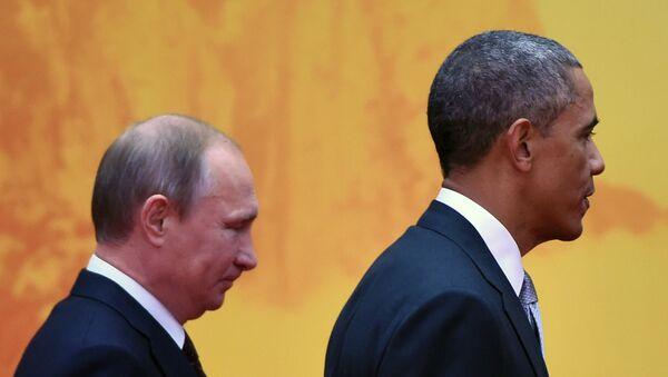 Prezydent Stanów Zjednoczonych Barack Obama i prezydent Rosji Władimir Putin - Sputnik Polska