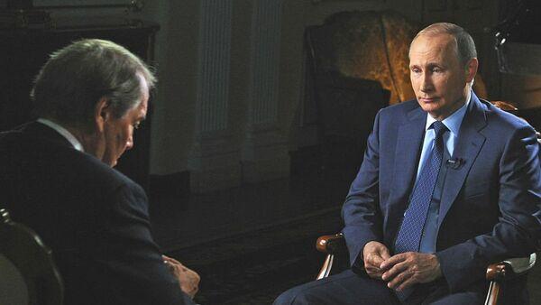 Władimir Putin udziela wywiadu dla CBS - Sputnik Polska