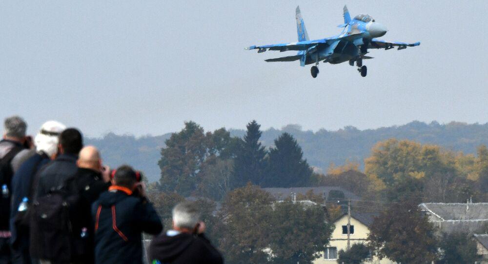 Myśliwiec Su-27 Sił Powietrznych Ukrainy