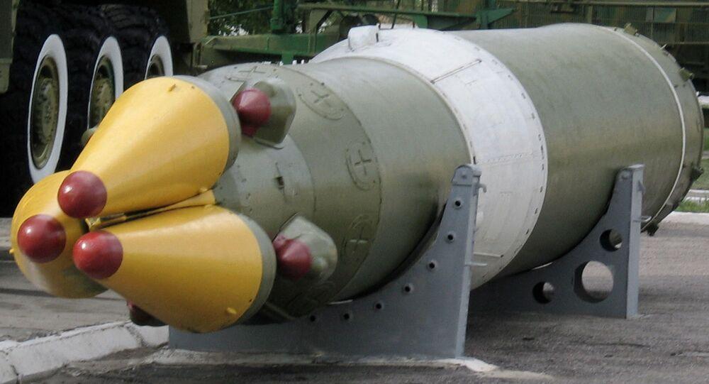 RSD-10 Pionier - radziecki pocisk balistyczny średniego zasięgu, obecnie eksponat muzeum poligonu Kapustin Jar