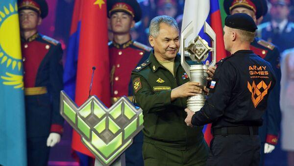 Siergiej Szojgu na ceremonii zamknięcia igrzysk wojskowych Armia 2019 - Sputnik Polska